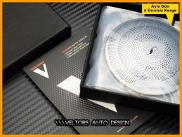 Mercedes W213 E Class Burmester Hoparlor Stereo Kapak Logo Amblem Seti 727