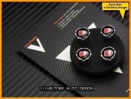 Audi S Line Logo Amblem Araç Sibop Kapak Seti
