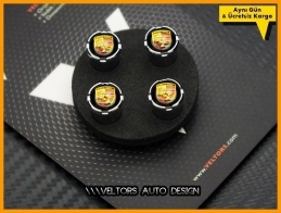 Porsche Logo Amblem Araç Sibop Kapak Seti