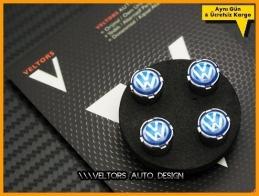VW Blue / Mavi Logo Amblem Sibop Kapak Seti