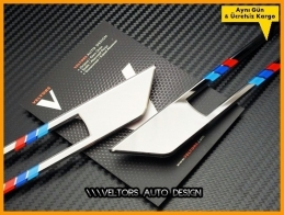 BMW Urban Modern Sport Luxury Yan Logo Amblem Çerçeve Seti