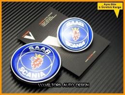 Saab Orjinal Kaput Bagaj Logo Amblem Seti