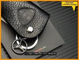 Mercedes MAYBACH Logo Amblem Özel Deri MAYBACH Anahtarlık