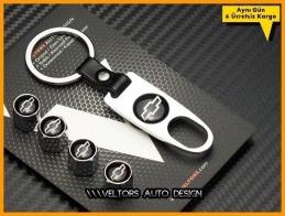 Chevrolet Logo Amblem Anahtarlık Sibop Kapak Seti
