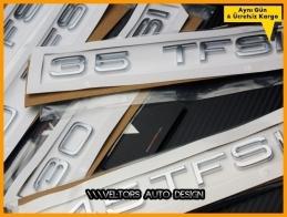 Audi 30 35 40 45 50 TFSI Bagaj Yazı Logo Amblem