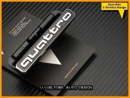 Audi Son Nesil Quattro Ön Izgara Logo Amblem Seti