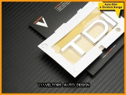 Audi TDI Bagaj Yazı Logo Amblem