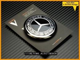 Mercedes Yeni Nesil Siyah Kaput Yıldız Logo Amblem