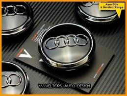 Audi Logo Amblem Q7 Jant Göbeği Göbek Kapak Seti