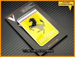 Ferrari Araç Plaket Logo Amblem
