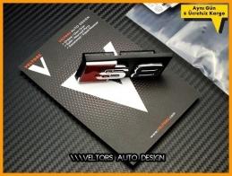 Audi A8 S Line S8 Ön Izgara Logo Amblem Seti