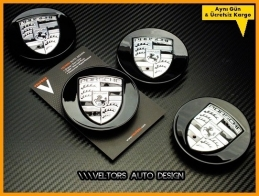 Porsche Logo Amblem Jant Göbeği Göbek Kapak Logo Amblem