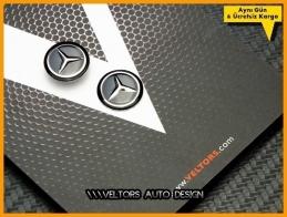 Mercedes Anahtarlık Kumanda Anahtar Logo Amblem Seti