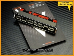 Audi Yeni Nesil Quattro Ön Izgara Logo Amblem