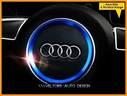 Audi Direksiyon Airbag Logo Amblem Halka Çerçeve