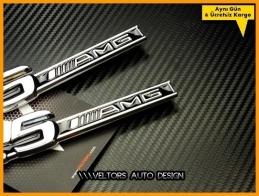 Mercedes 5.5 AMG Yan Yazı Logo Amblem Seti