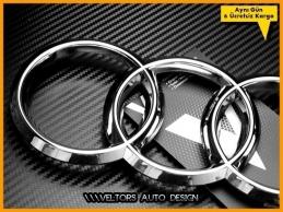 Audi A4 A6 A7 A8 Q3 Q5 Q7 RS6 RS7 RSQ3 Ön Izgara Kaput Halka Logo Amblem