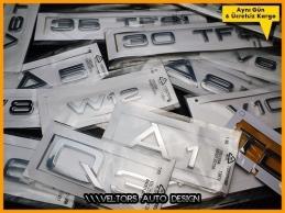 Audi A1 A3 A4 A5 A6 A7 A8 Q3 Q5 Q7 Bagaj Yazı Logo Amblem