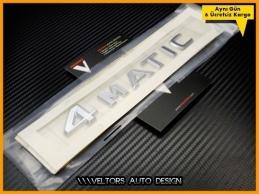 Mercedes 4 Matic Bagaj Yazı Logo Amblem