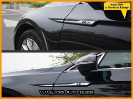 VW Passat B8 R Line R Çamurluk Logo Amblem Seti