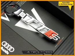 Audi TT Serisi TTS Logo Amblem Özel Krom Anahtarlık