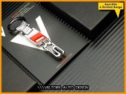 Audi RS Logo Amblem Özel Krom RS Anahtarlık