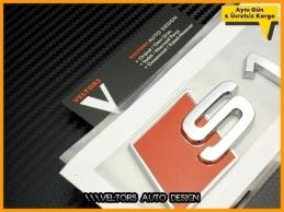 Audi A1 S Line S1 Bagaj Yazı Logo Amblem