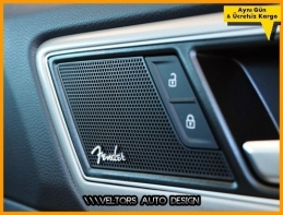 Audi Fender Logo Amblem Hoparlör Stereo Logo Amblem Seti