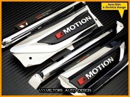 VW Tiguan 4Motion 4 Motion Yan Yazı Logo Amblem Seti