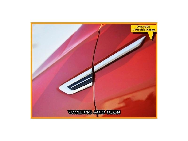 VW Tiguan Yan Kapı Çamurluk Logo Amblem Seti