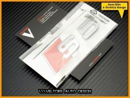 Audi A5 S Line S5 Bagaj Yazı Logo Amblem