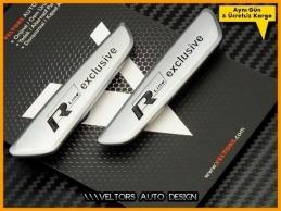 VW Passat Arteon Tiguan R line Exclusive Logo Amblem Seti
