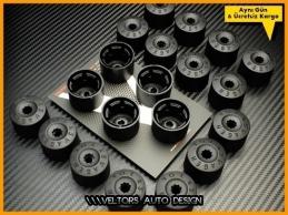 VW Logo Amblem Kilitli Orjinal Jant Bijon Kapak Seti