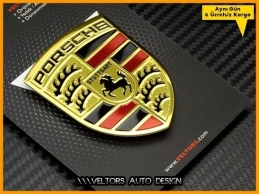 Porsche Body Araç Logo Amblem