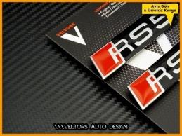 Audi A5 S5 Serisi RS5 Logo Amblem Seti