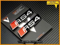 Audi A4 S4 Serisi RS4 Logo Amblem Seti