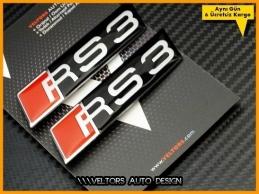 Audi A3 S3 Serisi RS3 Logo Amblem Seti