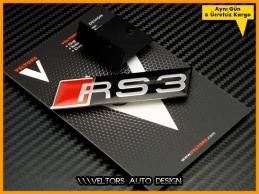 Audi A3 RS3 Ön Izgara Logo Amblem Seti