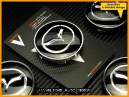 Mazda Logo Amblem Jant Göbeği Göbek Kapak Seti