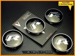 VW R Line Logo Amblem R Jant Göbeği  Göbek Kapak Seti