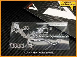 Audi Quattro Gecko Metal Body Logo Amblem