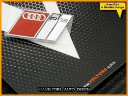 Audi RS Metal Araç Body Logosu Amblemi