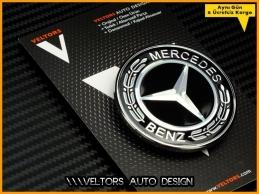 Mercedes CL CLK CLS SEC E R GL GLK ML SL Class Yeni Nesil Siyah Kaput Logo Amblem