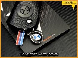 BMW Gerçek Deri Logo Amblem Anahtarlık