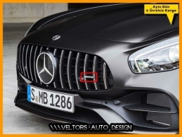 Mercedes GT GTR GTS AMG Ön Izgara Logo Amblem
