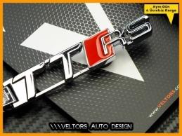 Audi TT Serisi TTRS Logo Amblem Özel Krom Audi RS4 Anahtarlık