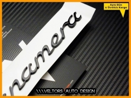 Porsche Panamera Piano Black Bagaj Yazı Logo Amblem