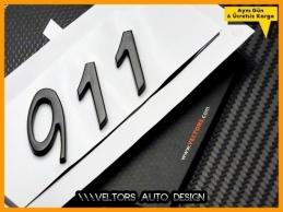 Porsche Piano Black 911 Bagaj Yazı Logo Amblem