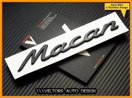Porsche Piano Black Macan Bagaj Yazı Logo Amblem