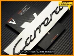 Porsche Piano Black Carrera Bagaj Yazı Logo Amblem